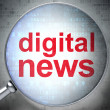 News concept: optical glass with words Digital News — Stock Photo