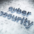 Privacy concept: Silver Cyber Security on digital background — Foto Stock #19723705