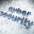 Privacy concept: Silver Cyber Security on digital background — стоковое фото #19723705