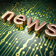 Stock Photo: News concept: circuit board with word News