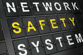 Safety concept: Safety on airport board — Stock Photo
