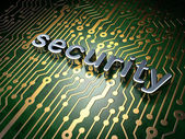Safety concept: circuit board with word Security — Stock Photo