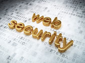 Protection concept: Golden Web Security on digital background — Stock Photo