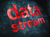 Information concept: Data Stream on digital background — Stock Photo