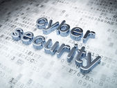 Privacy concept: Silver Cyber Security on digital background — Stock Photo