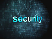 Protection concept: Security on digital background — Stock Photo
