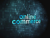 Business concept: Online Commerce on digital background — Stock Photo