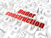 Web development SEO concept: Under Construction on alphabet — Stock Photo