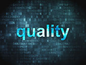 Marketing concept: Quality on digital background — Stock Photo