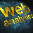 Stock Photo: SEO web design concept: Web Analytics on digital background
