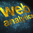SEO web design concept: Web Analytics on digital background - Stock Photo