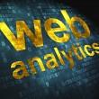 SEO web design concept: Web Analytics on digital background — Stock Photo