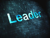 Business concept: Leader on digital background — Stock Photo