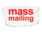 Advertising concept: Mass Mailing — Stock Photo