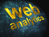 SEO web design concept: Web Analytics on digital background — Stock Photo