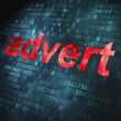 Stock Photo: Advertising concept: Advert on digital background