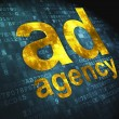 Advertising concept: Ad Agency on digital background - Stock Photo