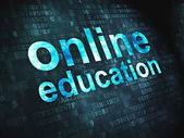 Education concept: Online Education on digital background — Stock Photo