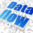 Stock Photo: Information concept: DatFlow on alphabet