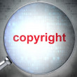 Marketing concept: optical glass with words Copyright - Foto de Stock