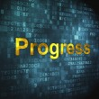 Stock Photo: Finance concept: Progress on digital background