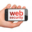 SEO web design concept: smartphone with Web Security — Stock Photo