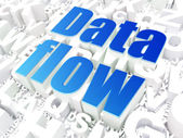 Information concept: Data Flow on alphabet — Stock Photo