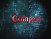 Business concept: Company on digital background — Foto de Stock
