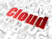 Cloud computing technology, networking concept: Cloud on alphabe — Stock Photo