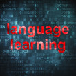 Stock Photo: Education concept: Language Learning on digital background