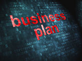 Business concept: Business Plan on digital background — Stock Photo