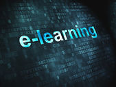 Education concept: E-learning on digital background — Stock Photo