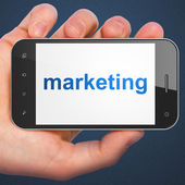 Advertising concept: smartphone with Marketing — Stock Photo