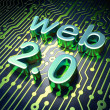 Web design SEO concept: circuit board with word Web 2.0 - Stock Photo