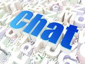 Conceito de Seo de desenvolvimento Web: bate-papo no alfabeto — Fotografia Stock