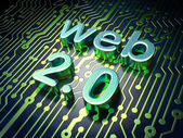 Web design SEO concept: circuit board with word Web 2.0 — Stock Photo