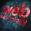 SEO web design concept: Web Technology on digital background — Stok Fotoğraf #19968531