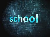 концепция образования: школа на фоне цифровой — Стоковое фото