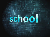 Education concept: School on digital background — 图库照片
