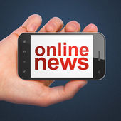 News concept: smartphone with Online News — Stockfoto