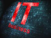 Finance concept: IT Business on digital background — Stok fotoğraf