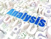 Marketing concept: Analysis on alphabet — Stock Photo