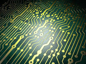 Technology concept: circuit board background — 图库照片