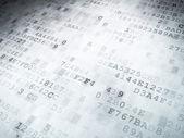 концепция технологии: двоичный код цифровой фон — Стоковое фото
