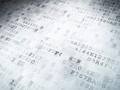 Technology concept: binary code digital background — Photo