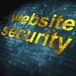 SEO web development concept: Website Security on digital backgro — Stock Photo #20294033