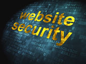 SEO web development concept: Website Security on digital backgro — Stock Photo