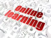 Education concept: Online Learning on alphabet background — Stock Photo