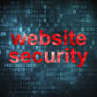 Privacy concept: Website Security on digital background — Stock Photo