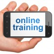 Education concept: smartphone with Online Training - Lizenzfreies Foto